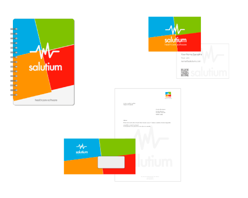 health software - original corporate stationery design