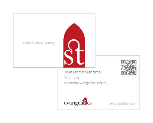 business card design - fashion clothing tools