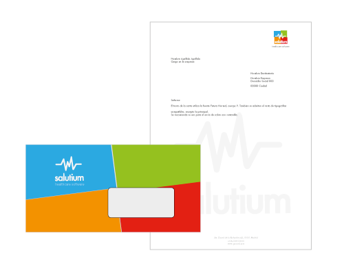 envelope design - healthcare company