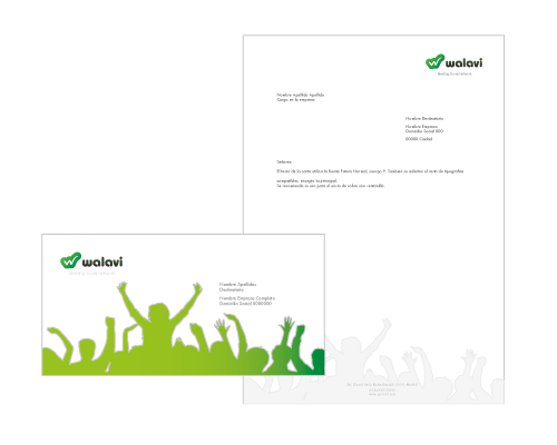envelope design - social network branding