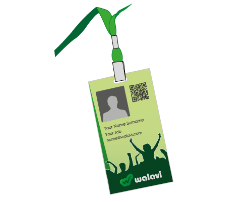 accreditation pass design - social network branding
