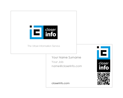 business card design - information tech