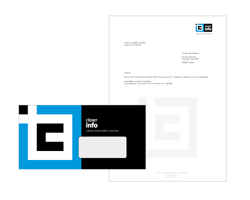 envelope design - information tech