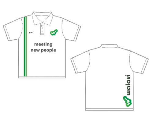 tennis shirt design -social network branding