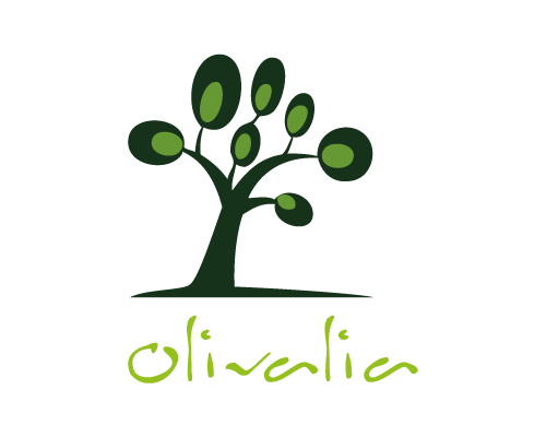 vertical olive oil company tools logo design