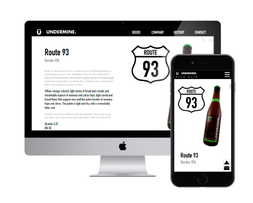 beer company - corporate website design and SEO marketing